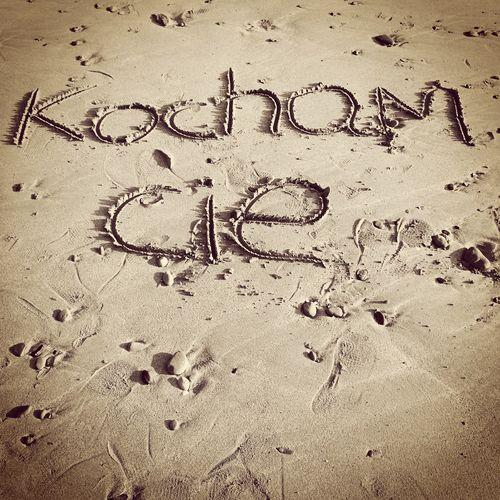 Love Romance Kocham Cie Sand Writing Writing On Sand Beach No People