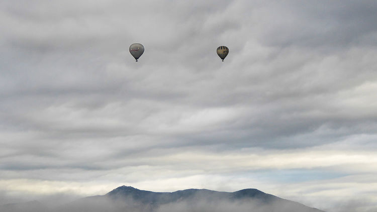 Ballons In The Sky Cloud - Sky Hot Air Balloon Outdoors Sky