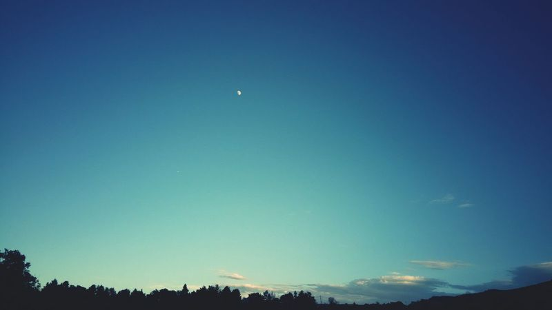Moon Moon Shots Mountain View Silhouette Silhouette_collection Nature Night Sky Color Palette Blue