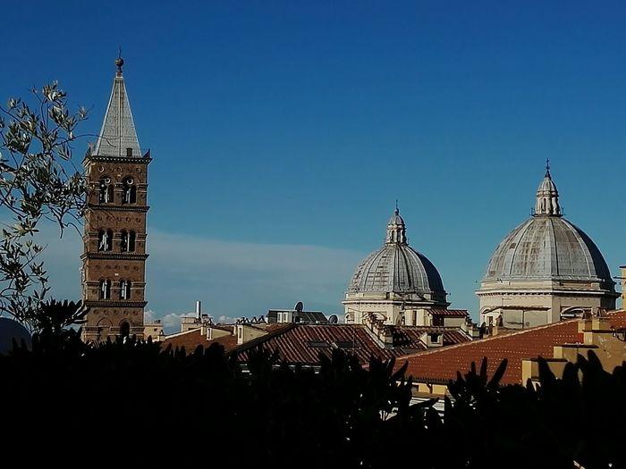 Roma Building Exterior Breakfast On The Terrace Santa Maria Maggiore domes Moving Around Rome California Dreamin