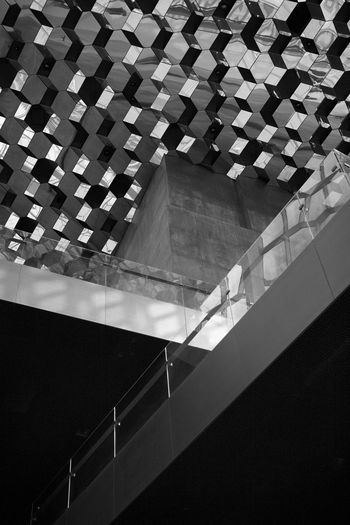 Harpa Architecture Black And White Friday Built Structure Concrete Glass Harpa Concert Hall Indoors  Pattern