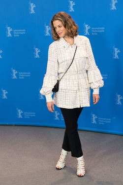Berlin, Germany - February 19, 2018: German actress Marie Baeumer poses at the '3 Days in Quiberon' (3 Tage in Quiberon) photo call during the 68th Berlinale Film Festival at Grand Hyatt Hotel Famous German Marie Baeumer Marie Bäumer Photocall Woman Actress Beautiful Woman Berlinale Berlinale 2018 Berlinale Festival Berlinale2018 Berlinale68 Front View German Actress One Person People Photo Call Popular Portrait Pose Posing Posing For The Camera Standing Woman Portrait