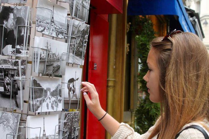 The Shop Around The Corner Original Experiences Feel The Journey Paris Postcard Postcards Girl Woman Traveling Travel City