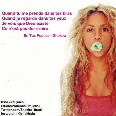 ShakiraLyrics - En Tus Pupilas Shakirabrasil Shakira