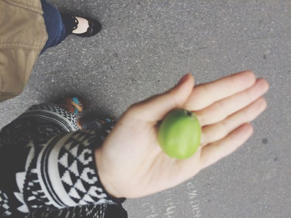 Apple Green In Your Arms Hanging Out Walking