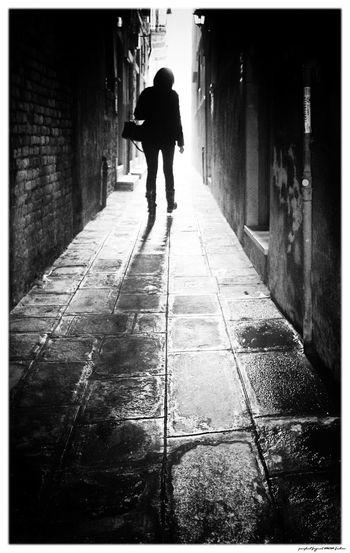 Venedig Venezia Alley City Outdoors Silhouette Venice Walking