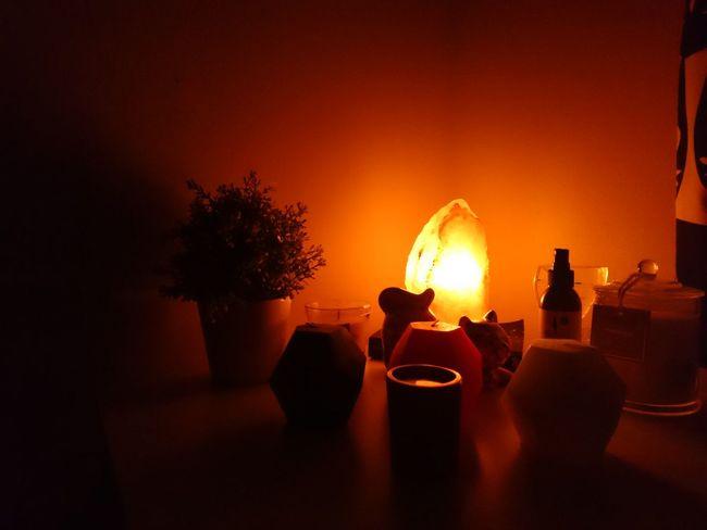 Tree Indoors  No People Smoke - Physical Structure Night Saltlamp Ishka