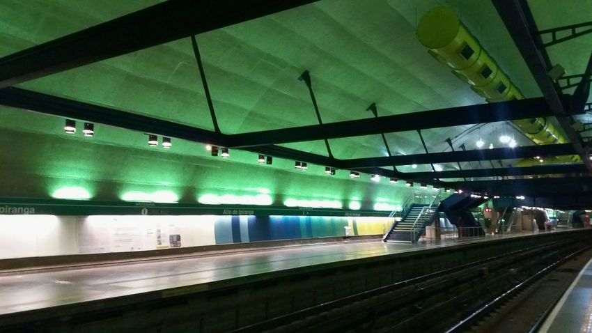 Subway Station Alto do Ipiranga - Subway Network - Sao Paulo - BR Subway Brazil Architecture Transportation Illuminated LinegreenSampa Creative Light And Shadow Color Photography
