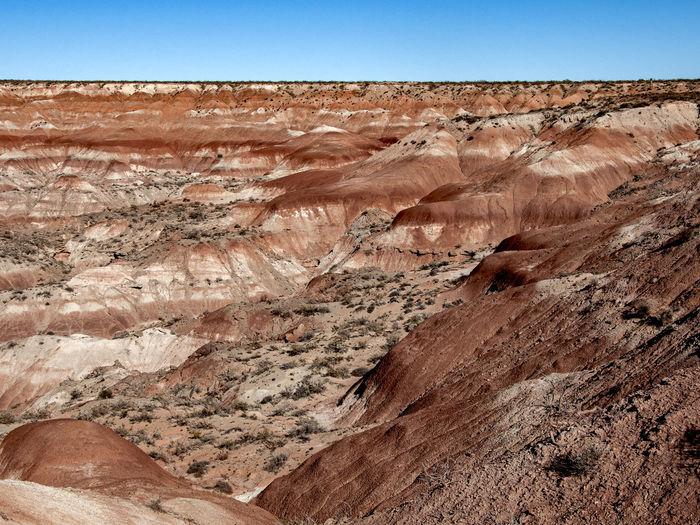Rock formations in desert