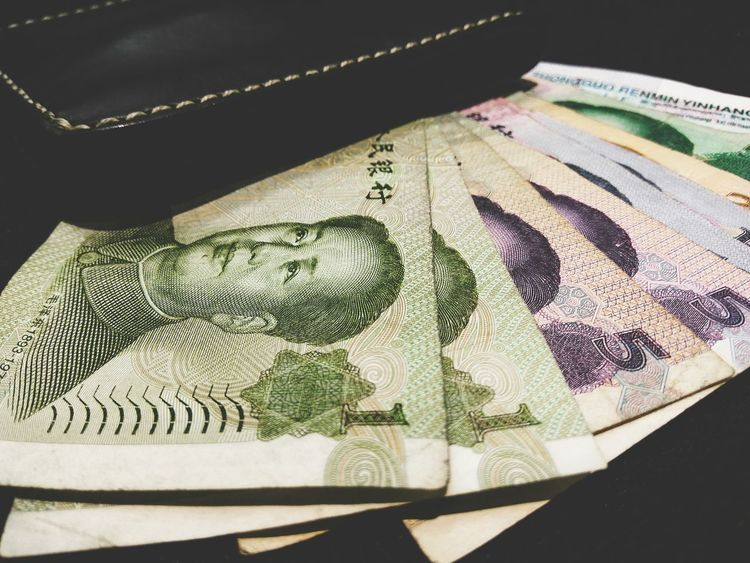 Chinese Cash Banknote YUAN Cash Shoppingtime Shopping Men Mensstyle Cashmoney  Paper Paper Currency Currency Black Background Finance Wealth Close-up Crumpled Paper Money Coin Allowance Counting Investment Crushed Garbage Exchange Rate Crumpled Savings Coin Bank Banking Wastepaper Basket