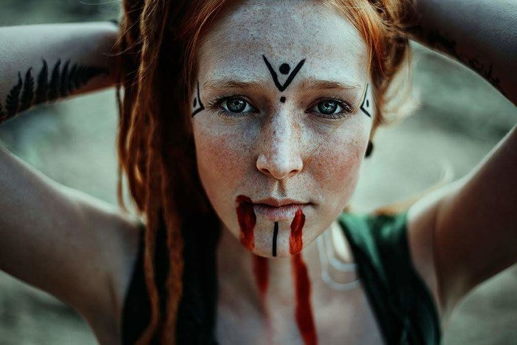 Lu. Wiesbaden Germany Dreadlocks Dreadhead Dread Dreads Wonderlocks Freckles Viking Vikings  Sollenaphotography Nikon Girl Redhair One Woman Only Only Women Adults Only Portrait Adult One Person Looking At Camera Close-up Headshot Human Face