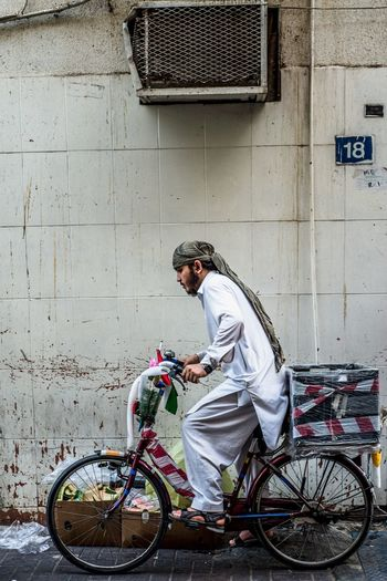 Iftar Bicycle Transportation Real People One Person Mode Of Transportation Full Length Lifestyles Land Vehicle Side View Men The Street Photographer - 2018 EyeEm Awards