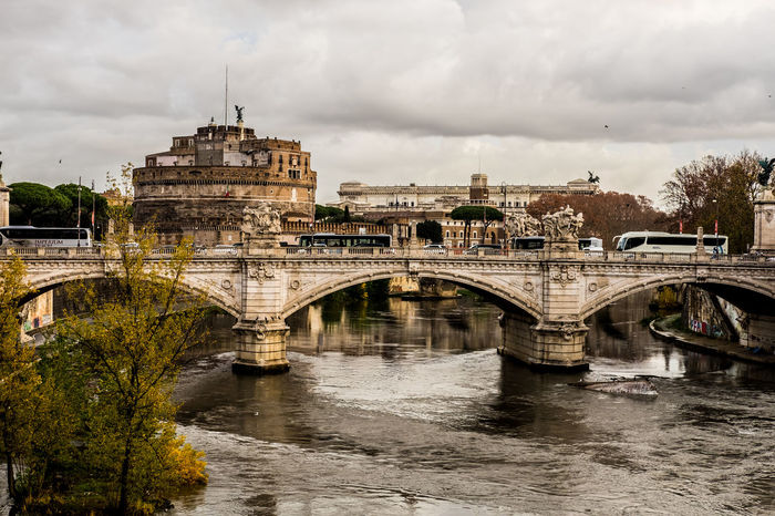 Panorama Tevere River Arch Arch Bridge Architecture Bridge - Man Made Structure Castello City Cloud - Sky Outdoors Ponte Sant'angelo Tevere Water #urbanana: The Urban Playground