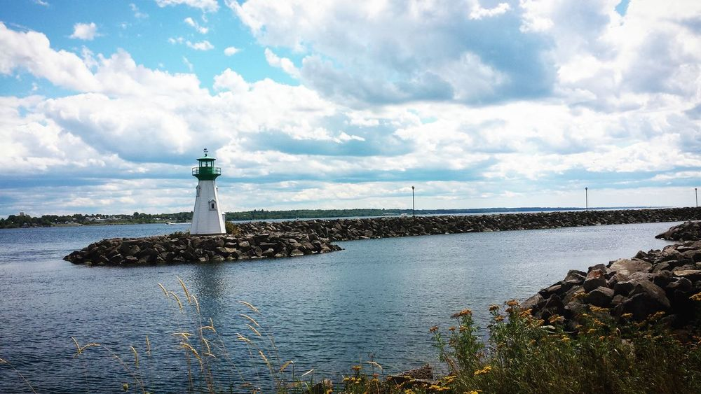 Waterscape Landscape Lighthouse St Lawrence River Summer