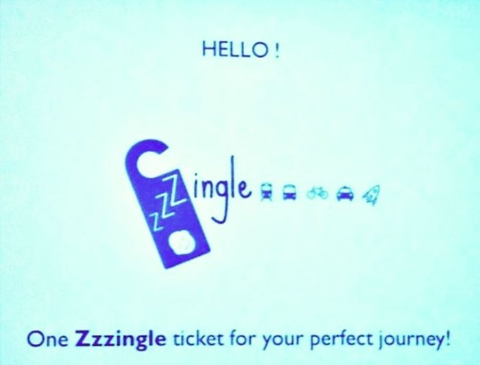 Just pitched our Startup idea at startup weekend Luxembourg : Zzzingle | one single ticket for your perfect journey :)