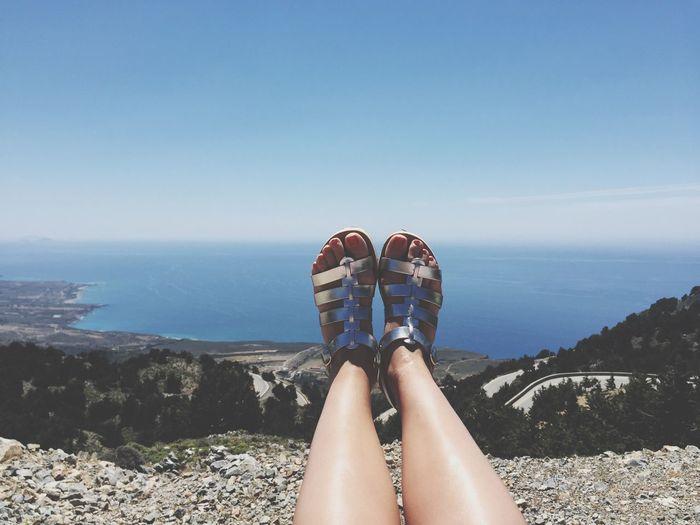 Vacation View Greece Crete Shoes