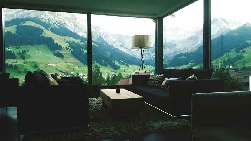 Adelboden Window Indoors  Mountain Mountain Range Tourist Resort Hello World ✌ Moment Of Silence