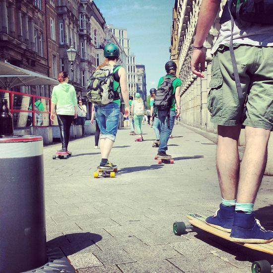 Germany - Hamburg Collonaden. Skateboarding Skateboard Hamburg Collonaden Goskateboardingday Everyday Emotion Samsung Galaxy S4 Fresh On Eyeem