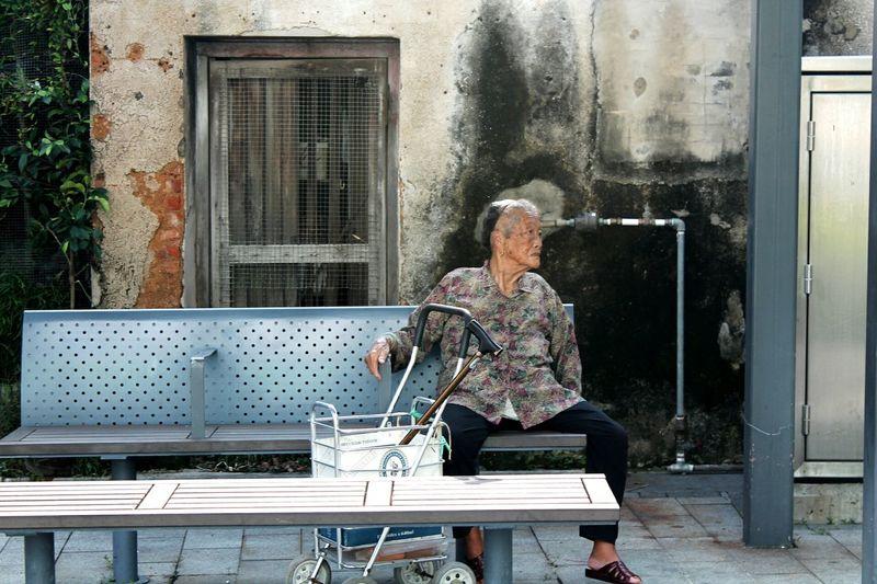 One Person One Woman Only People Oldlady Chinese Village Fishing Village Tai O Village Lantau Island HongKong
