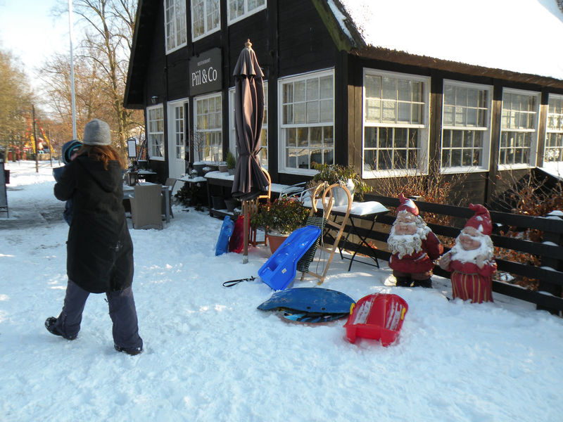 Winter Snow Cold Temperature Warm Clothing Outdoors Full Length Knit Hat People Building Exterior Built Structure Adult Leisure Activity Day One Person Adults Only Architecture Women Tree Jægersborg Dyrehave Dyrehaven - at Restaurant Piil & Co. in Jægersborg Deer Park in Klampenborg, Denmark
