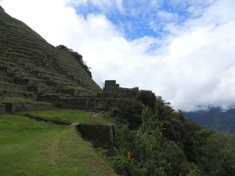 Sky Cloud - Sky History Nature Architecture Mountain Day Built Structure Outdoors Old Ruin Beauty In Nature Scenics Landscape Travel Destinations Tranquility Ancient No People Ancient Civilization Growth Building Exterior Peru Inca Ruins Tranquil Scene Inca Trail