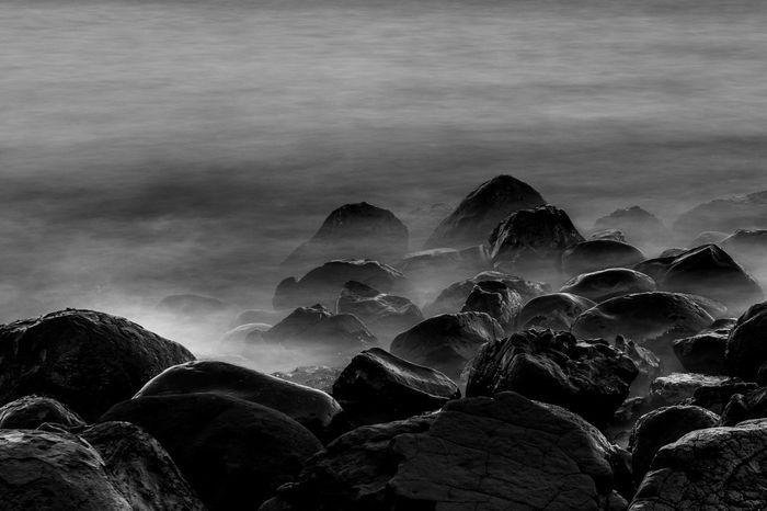Stones at rough beach. EyeEm Selects EyeEmBestPics EyeEm Best Shots EyeEmNewHere EyeEm Gallery EyeEm Nature Cloud - Sky Water Motion Solid