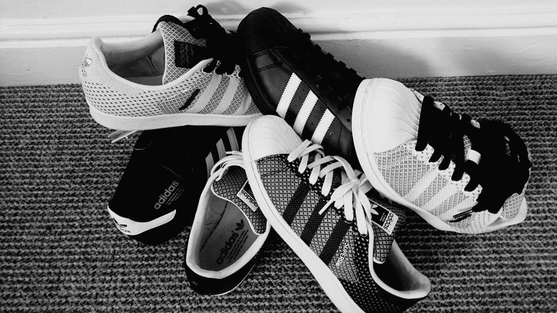 Who's trainers? Addidas Originals Fashion Trainers 3Stripes2soles1love Superstar Blackandwhite EyeEm Gallery Eyeem Photography Foot Wear  No People Shoe One Person Leisure Activity