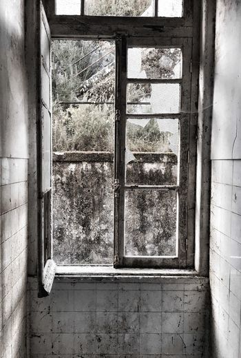 Window Indoors  No People Damaged Abandoned Architecture Psychiatric Hospital Loneliness Mental Hospital  Mental Illness