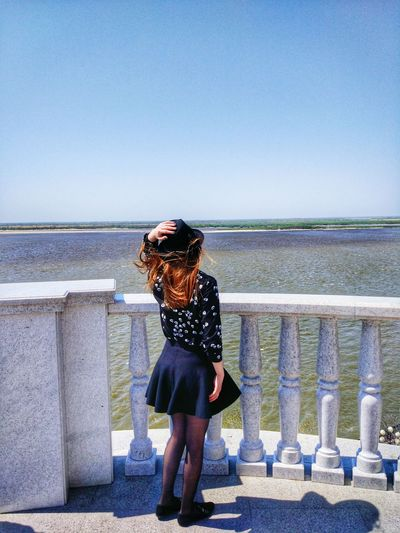 Embankment Khabarovsk Fareast Russia Wind Redhair Beaty