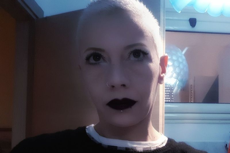 Platinumblonde Platinumhair Platinum Buzzcut Platinum Pixie Selfie Self Portrait #selfportrait Phone Photography People Photography Human Face One Person Human Body Part Portrait Adult Beauty One Woman Only Front View Looking At Camera Young Adult People Beautiful Woman Headshot Indoors  Close-up Beautiful People Young Women
