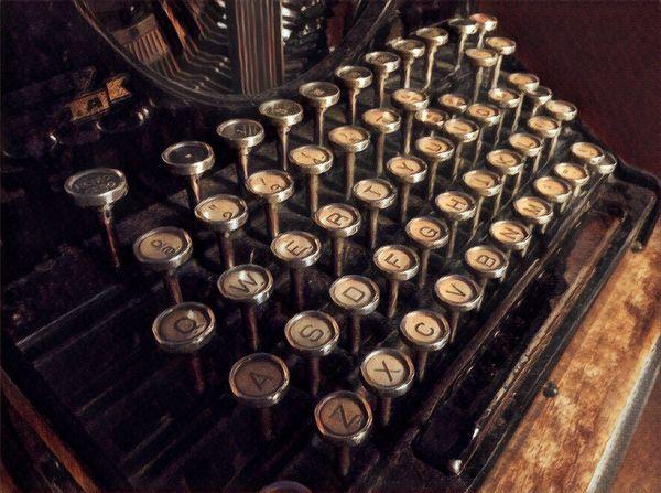 ArtWork Typewriter No People Old-fashioned Indoors  Close-up Maquina De Escribir Teclas Máquina De Escribir Old Types