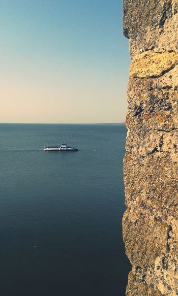 Ship & Wall Sea And Sky Ship Castle Castle Walls Sea Belgorod-Dnestrovsky Ukraine
