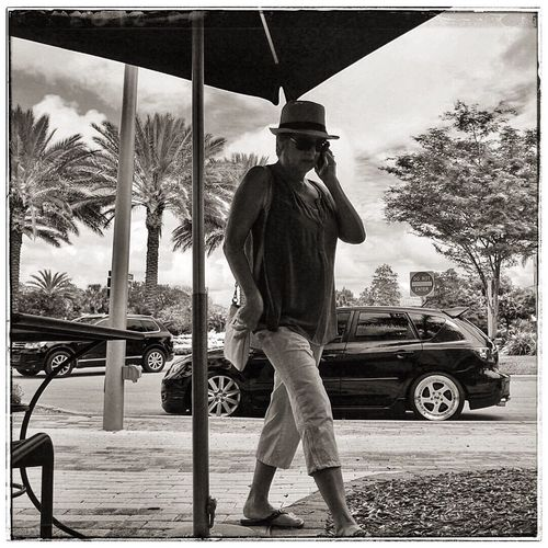 People watching at the Coconut Creek Promenade Hanging Out Streetphoto_bw Streetphotography Blackandwhite