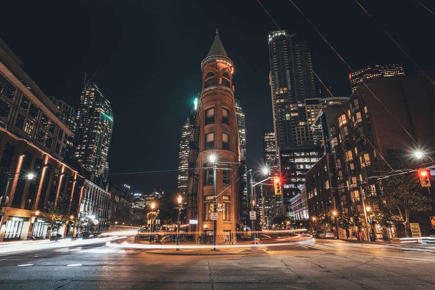 Cityscape Toronto Architecture Building Exterior Built Structure City Citylife Illuminated Night No People Outdoors Road Sky Street Transportation Travel Destinations