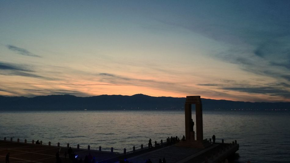Sunset Sky Water Outdoors Cloud - Sky Travel Destinations No People Beauty In Nature Nature Night Architecture Huawei P9 Lite ReggioCalabria Architecture Built Structure Arch The Past Sunset_collection Sunset Silhouettes Strait Of Messina Straitofmessina View Landscape Sunset Colors Sunset And Clouds  EyeEmNewHere