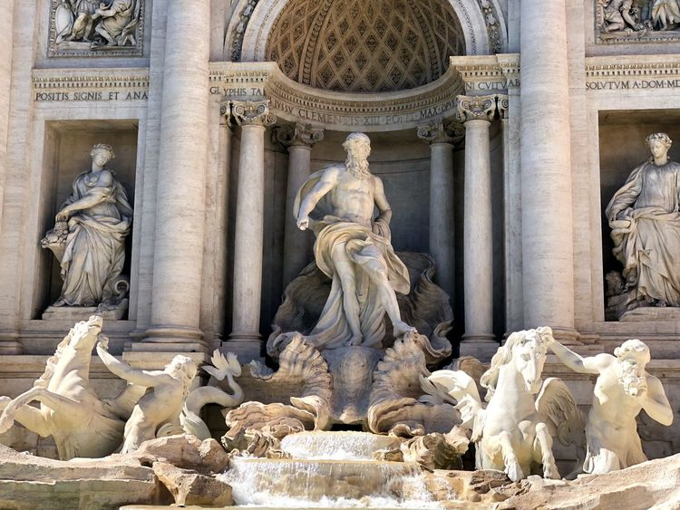 Fontana Di Trevi EyeEm Selects Architecture Religion Belief Sculpture Art And Craft Travel Destinations Architectural Column Carving - Craft Product Creativity Statue History