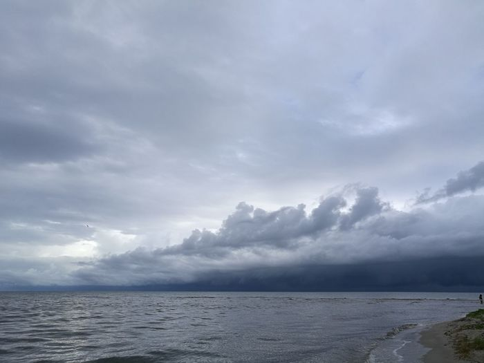 Beach Beauty In Nature Cloud - Sky Day Horizon Over Water Nature No People Outdoors Scenics Sea Seaside Sky Storm Cloud Tranquil Scene Tranquility Water