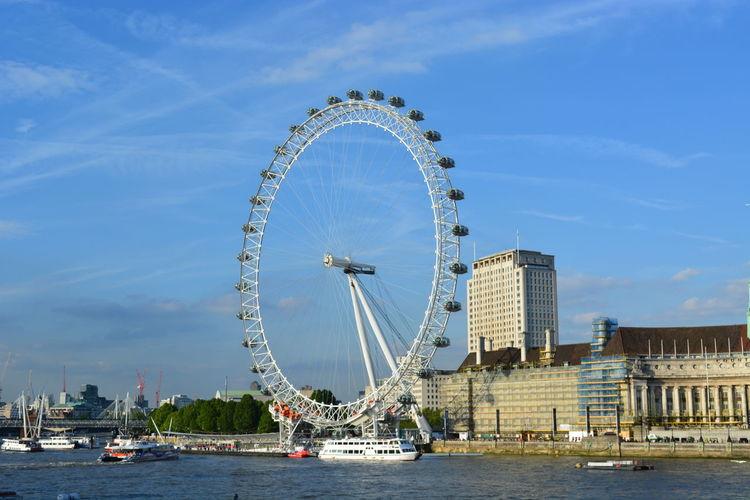 London eye London The Thames River Ferris Wheel Arts Culture And Entertainment Amusement Park Water Travel Destinations Outdoors Amusement Park Ride Urban Skyline City
