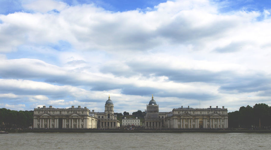 Architecture Building Exterior Built Structure City Cloud - Sky Cultures Day London London United Kingdom No People Outdoors Royal Naval College Sky Travel Destinations