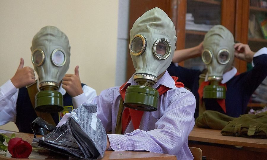 Russia School Gas Mask Protective Workwear Men Adult People Day