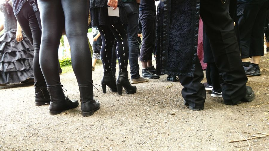 Low Section Outdoors Adults Only Human Body Part Adult WGT2017 Wgt Wave-Gotik-Treffen Leipzig Gothic Celebration Event Legs Legs And Feet Waiting In Line Waiting Crowd Black Scene People People Photography People And Places. Festival Music Dark The Street Photographer - 2017 EyeEm Awards