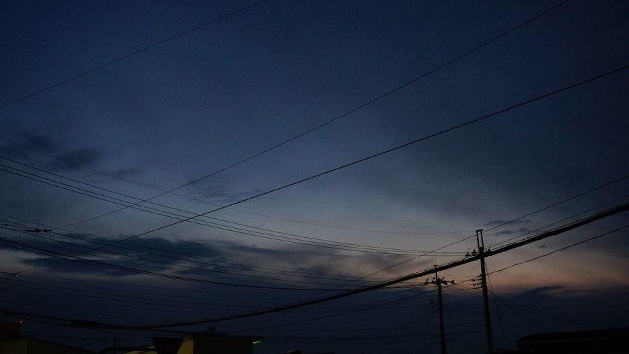 空 もー真っ暗じゃん!5時前なのに😳 Silhouette_collection Silhouette ソラ Sky Silouette & Sky うちから見た空