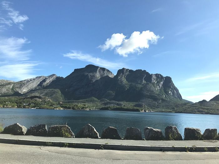 How Beautiful Norway is in ☝️ picture! Mountain Scenics Mountain Range Nature Sky Beauty In Nature Tranquility Tranquil Scene Cloud - Sky Outdoors Day Water No People Sunlight Travel Destinations Sea Blue 12MP