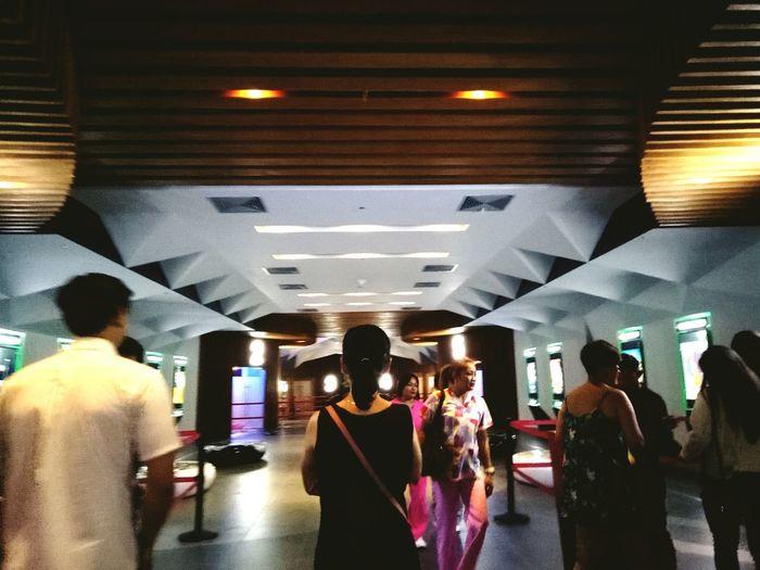 Cinema's on weekdays. Architecture Crowd