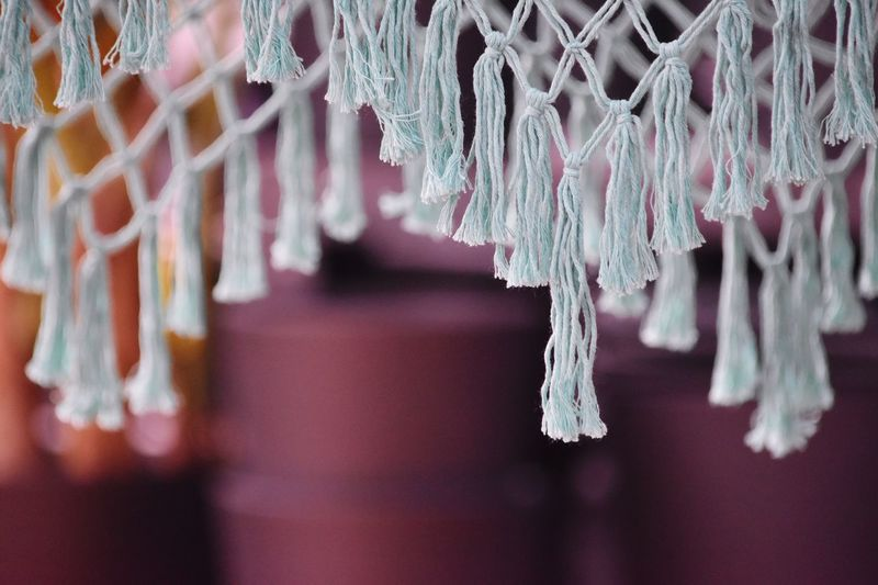 Close-Up Of Tassels Hanging