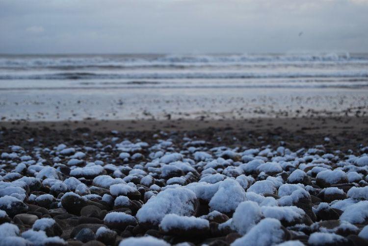 Snow Beach Pebble Shades Of Winter