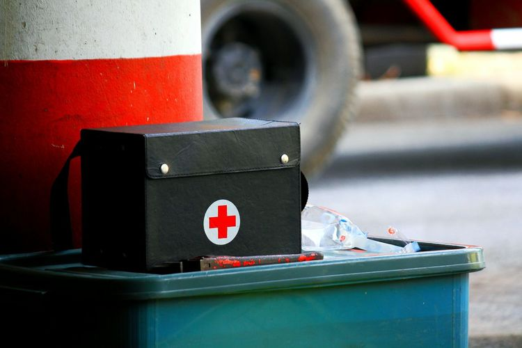 Black aid box - First aid box - Hospital Aid Box Care Copy Space Doctor  First Aid Box Green Hospital Meditation Pharmacy Sign Ambulance Black Close-up Cure Fever Focus On Foreground Healthy Outdoors Red Repair Rescue Sickness Symbol EyeEmNewHere