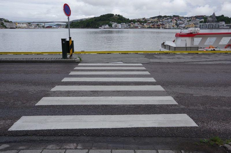 Crosswalk Streetphotography Pentax Kristiansund Visitnorway NoEditNoFilter Norway Norwegen Road Harbour