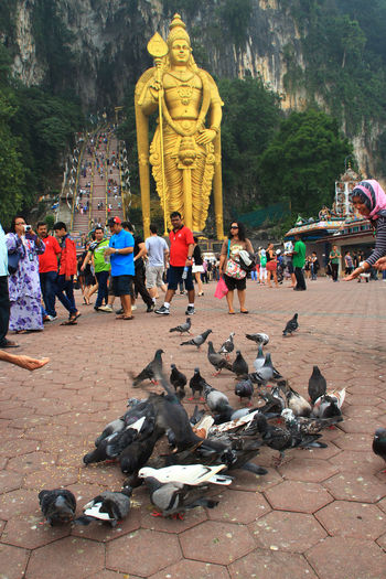 Malaysia Daily life Batu Caves Batu Chaves Cultures Day Hindu India Leisure Activity Lifestyles Malaysia Mixed Age Range Outdoors Tourism Tourist Travel Destinations Tree Vacations