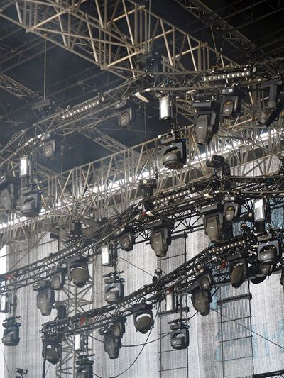 Spotlights Over Stage At Night